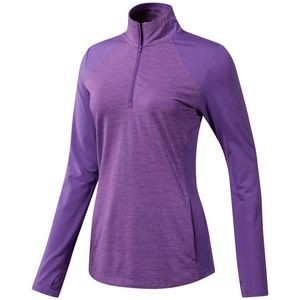 Adidas Ladies Half Zip Knit Jacket