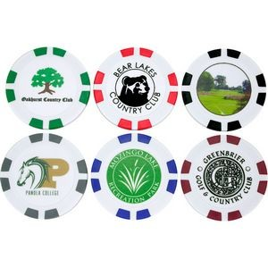 Custom Printed Poker Chip Golf Ball Marker