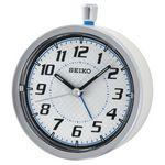 Custom Seiko QHE147W Bedside alarm clock, White