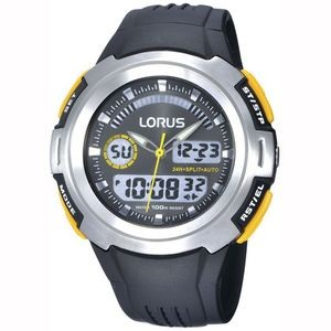Lorus R2323D Sports Timer Watch - Silver/Yellow