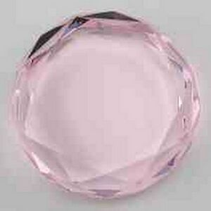 "Pink Rounded Octagon Crystal Paperweight Award (2.75""x0.75"")"