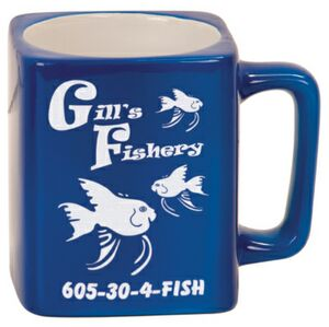 8 Oz. Blue Ceramic Mug