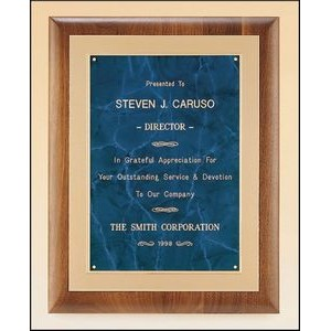 "Solid American Walnut Plaque w/Embossed Frame (11""x14"")"