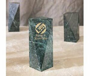 "Marble Embassy Award - Large (8""x3 7/8""x2.75"")"