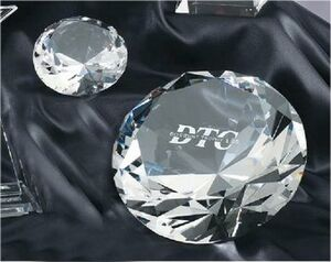 Small Crystal Diamond Award/Paperweight