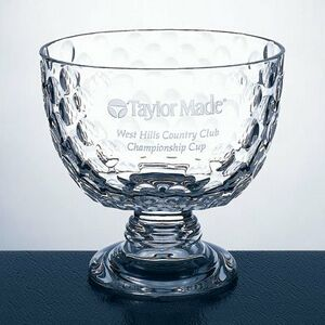 "Crystal Golf Bowl Award - Medium (7.25""x10.75""x4.25"" base)"