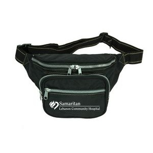 The Four Zippered Crinkled Nylon Fanny Pack