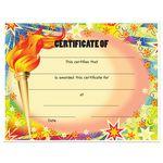 Custom Stock Award Certificates - Torch Design