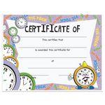 Custom Stock Award Certificates - Clock Design