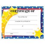 Custom Stock Award Certificates - Stars Design