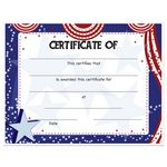 Custom Stock Award Certificates - Patriotic Design