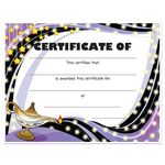 Custom Stock Award Certificates - Lamp Design