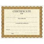 Custom Stock Award Certificates - Classic Gold Design