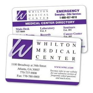2 Color Custom Printed On Both Sides - Laminated Paper Wallet Card