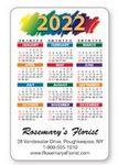 Custom Full Color- Laminated Vertical Calendar Wallet Card