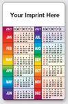 Custom Animated FLIPIMAGE Wallet Card- Business Card & Calendar (Rainbow Colors)