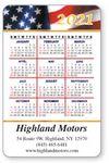 Custom Full Color- Laminated Vertical Calendar Wallet Card (US Flag)