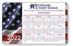 Custom Full Color- Laminated Horizontal Calendar Wallet Card (US Flag)