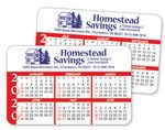 Custom 6 Month 2 Sided Calendar Laminated Wallet Card- Horizontal