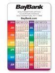 Custom Full Color- 10 Mil. PVC Plastic Vertical Calendar Wallet Card (Rainbow) Spa