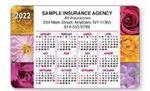 Custom Full Color- 10 Mil. PVC Plastic Horizontal Calendar Wallet Card (Floral)