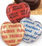 Custom Belgian Chocolate Candy Gift Hearts (Valentine's Day)