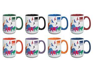15 Oz. Mighty 2 Tone Ceramic Mug w/2 Tone Handle
