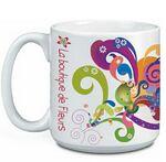 Custom 20 Oz. Super Size Mug (White)