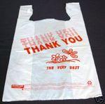 Custom Medium Plastic T-shirt Shopping Bags - Thank You