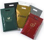 Custom Die-Cut Handle Plastic Bags w/Zip-Loc Closure - 9