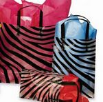 Custom Zebra Pattern Frosted Plastic Bag w/ Loop Handles (16
