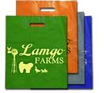Custom High Run Custom Plastic Bags w/ Heat Sealed Patch Handle (12