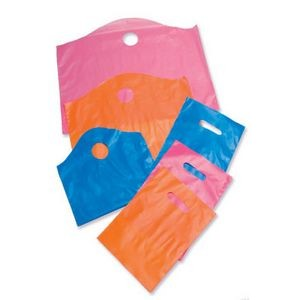 Frost-Tinted Die Cut Handle Plastic Bags (12