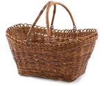 Custom Rectangle Wicker Basket w/Dual Handle (15 1/2