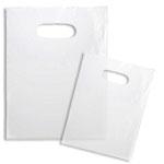 Custom Clear Frosted Shopping Bag W/ Soft Loop & Die Cut Handles (7