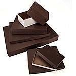 Custom General Purpose Rigid 2 Piece Chocolate Brown Boxes - 7 1/16