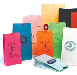 Custom Custom Printed Stand Up Colored Paper Bag w/Flat Bottom (6 9/16