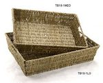 Custom Rope Storage Rectangle Tray/ Gift Basket w/ Small Wire Frame