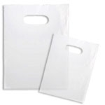 Custom Clear Frosted Shopping Bag W/ Soft Loop & Die Cut Handles (12