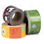 Four Color Bleed Water Activated Paper Tape