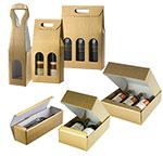 Custom Oro Matte Gold 3 Bottle Italian Wine Boxes W/ Dividers