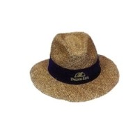 Fedora Style Twisted Linen Straw Golf Hat w/Sunblock Lining