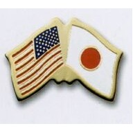 Photo Etched Dual Country Flag Pin (USA/ Japan)