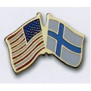Photo Etched Dual Country Flag Pin (USA/ Finland)