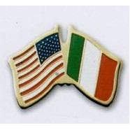 Photo Etched Dual Country Flag Pin (USA/ Italy)