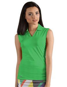 Womens Avail Sleeveless Polo Shirt