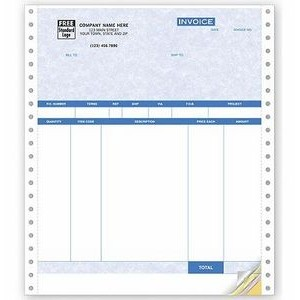 Parchment Product Invoice w/ Packing Slip (4 Part)