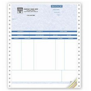 Parchment Continuous Product Invoice (3 Part)
