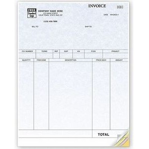 Parchment Laser Product Invoice (2 Part)