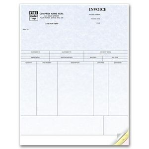 Laser Parchment Product Invoice (2 Part)